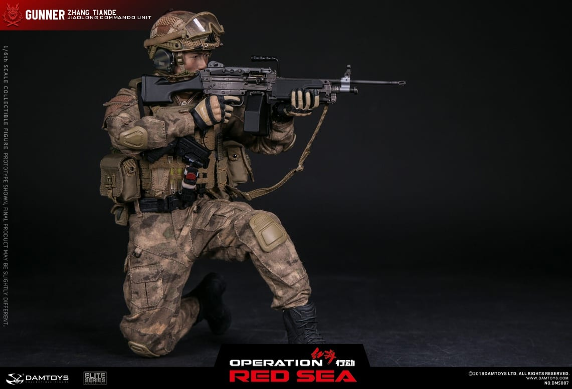 Operation Red Sea PLA Navy Marine Corps Gunner Zhang Tiande 1//6 DAMTOYS DMS007