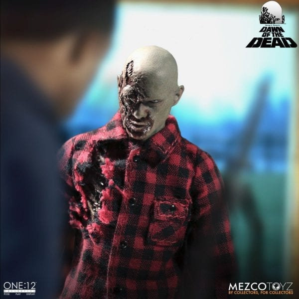 New Dawn Of The Dead Plaid Shirt /& Flyboy Zombie Set Mezco One:12 Collective