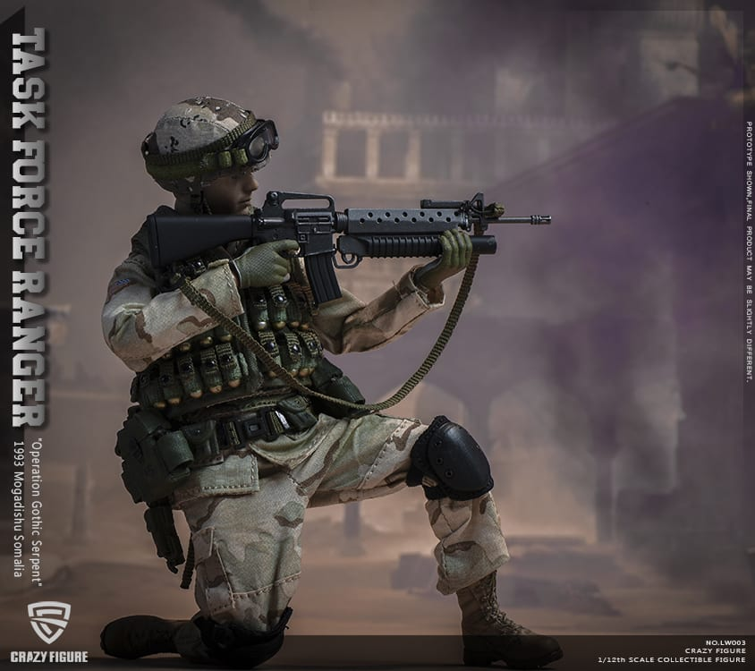 "ASOC in /""Operation Gothic Serpent/"" CrazyFigure 1//12 US Miliary Special Force –"