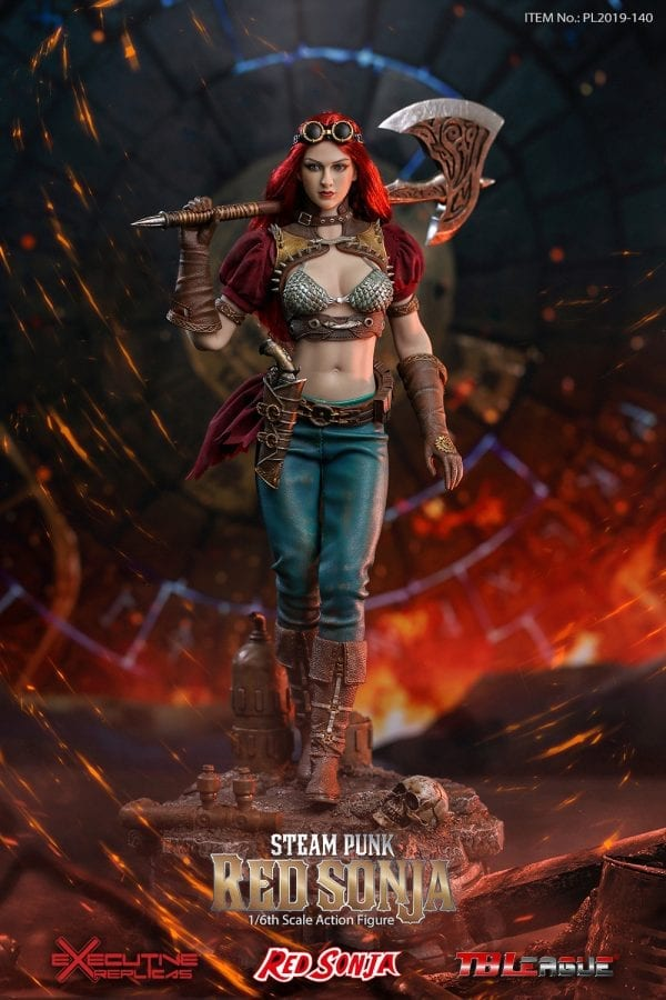 Phicen Hot Red Sonja She-Devil Metal Sword w// Sheath for 1//6 12 in scale Toys
