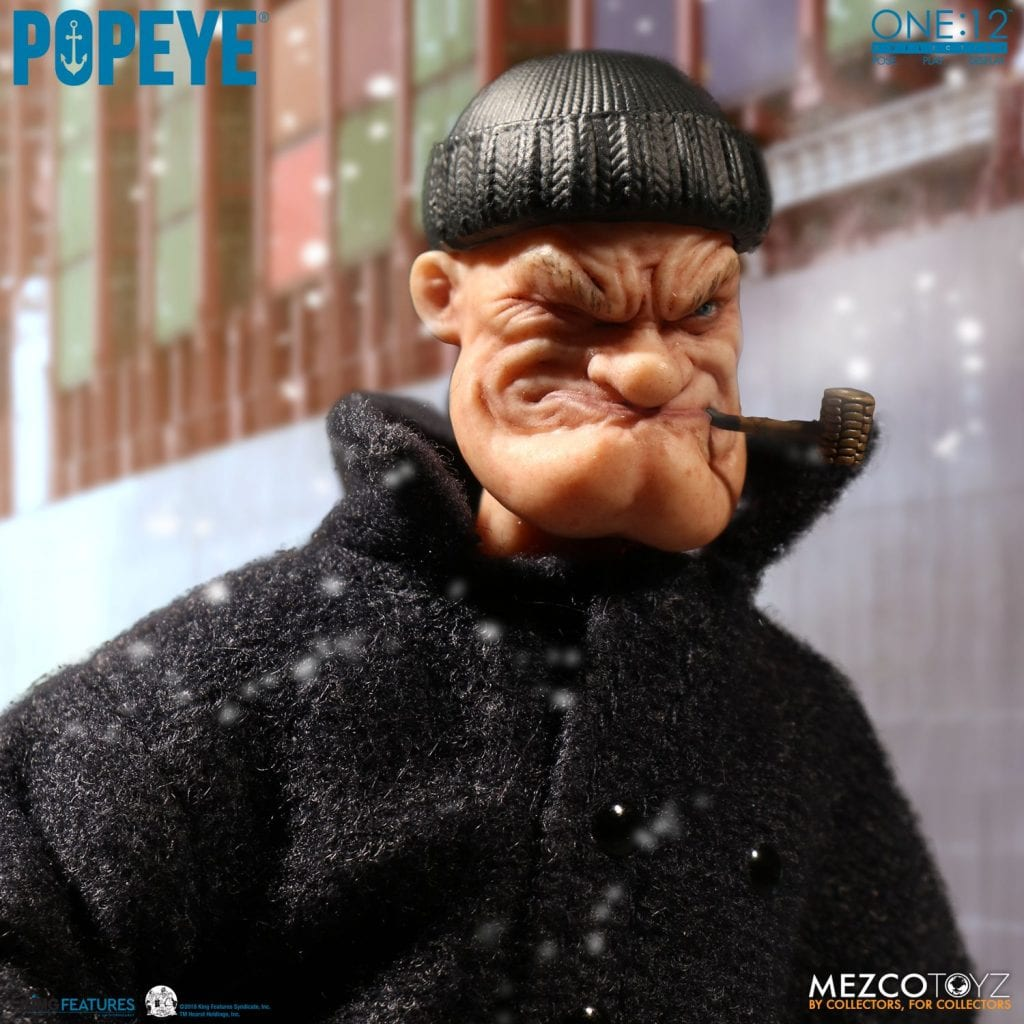 1//12 Scale Mezco Toyz  Popeye the Sailor Man Action Figure With Accessories Toy